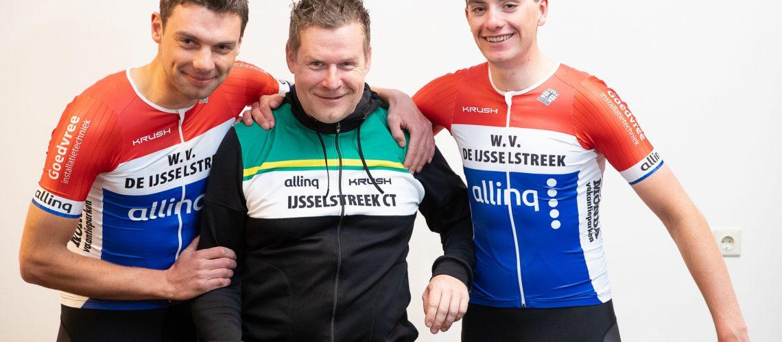 25-02-2020: Wielrennen: Teampresentatie IJsselstreek; Harderwijk  Robin Lowik, Marien Bogerd, Mark Zonnebelt